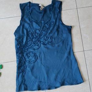 Kenar real blue tank dress top